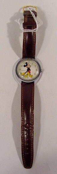 609: Timex Electric W.D.P. Mickey Mouse Wrist Watch  NR