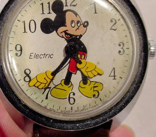 609: Timex Electric W.D.P. Mickey Mouse Wrist Watch  NR - 3