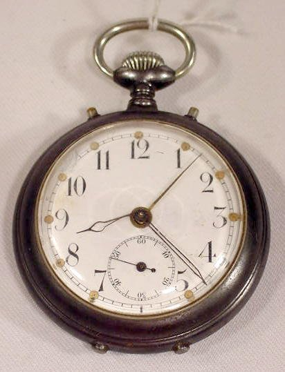 610: Junghans Germany Alarm Pocket Watch  NR