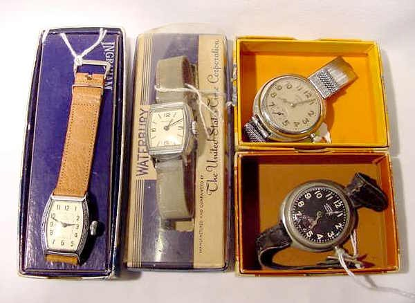 611: 4 Collectible Wrist Watches with Boxes  NR