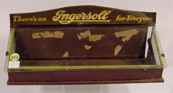 613: Ingersoll Store Watch Display Case  NR