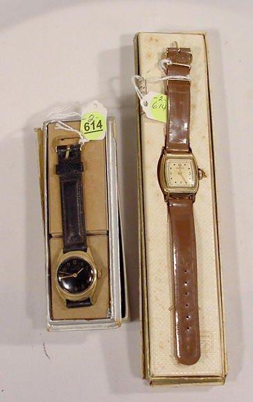 614: 2 Boxed Kelton Men's Wrist Watches  NR