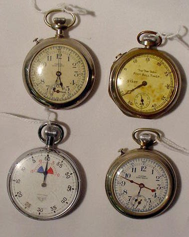 617: 4 Collectible Stop Watches  NR