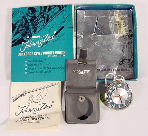 618: Official Johnny Zero Pocket Watch: Air Force Style