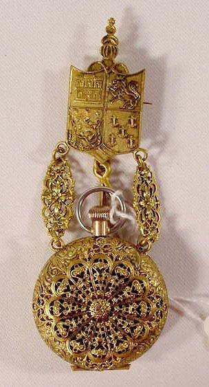 622: Addison 6/0 Watch & Chicago 1893 Ornate Pin Holder