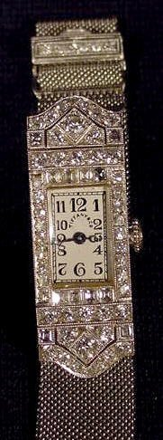 657: Tiffany Ladies Wrist Watch Platinum with Diamonds