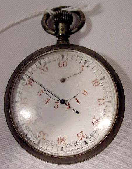 674: Swiss Double Sided Stop Watch & M.P.H. Calculator