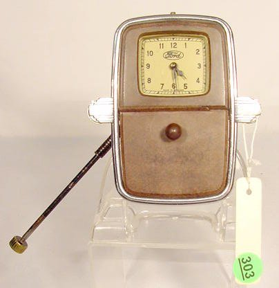 Ford Car Clock / Ashtray; Made in England NR