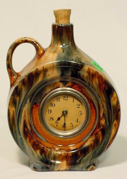 Lux Clock Co. Pottery Jug Clock NR