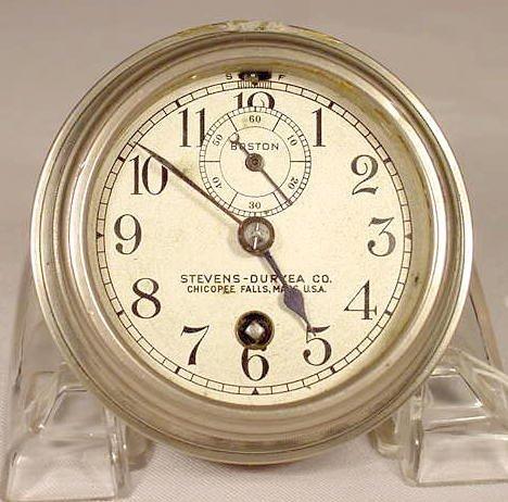 Stevens -Duryea Car Clock by Chelsea Clock Co. NR