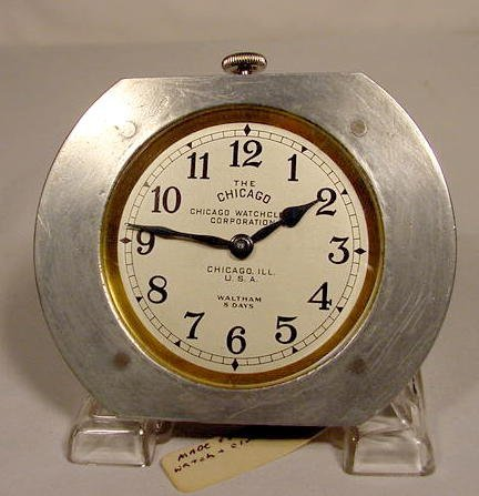 The Chicago Car Clock by Waltham, USA NR