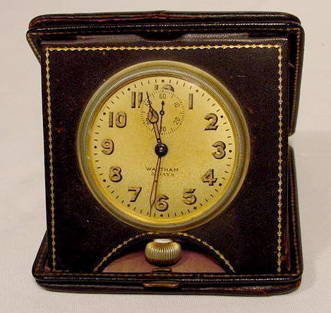 8 Day Waltham Travel Clock , Made in USA NR