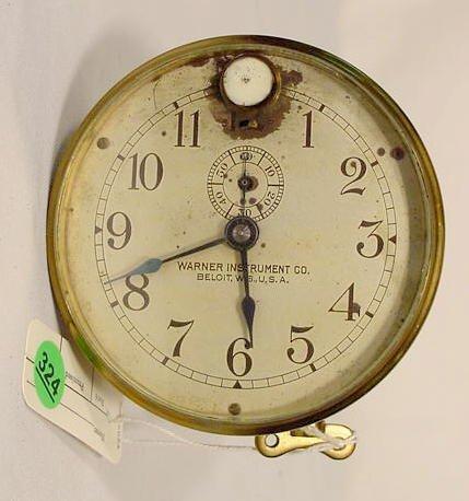 Warner Instruments Co. Car Clock, USA NR