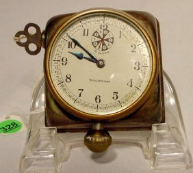 8 Day Waltham Car Clock , Made In USA NR
