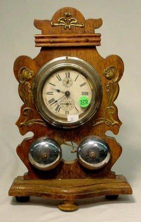 Junghans Art Noveau Cased Alarm Clock NR