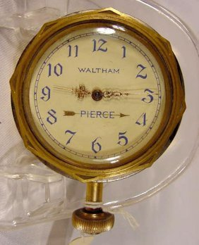 1925 Pierce Car Clock By  Waltham, USA NR