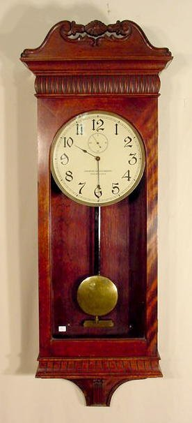 Mahogany Stained Clock by  American Clock Co. NR