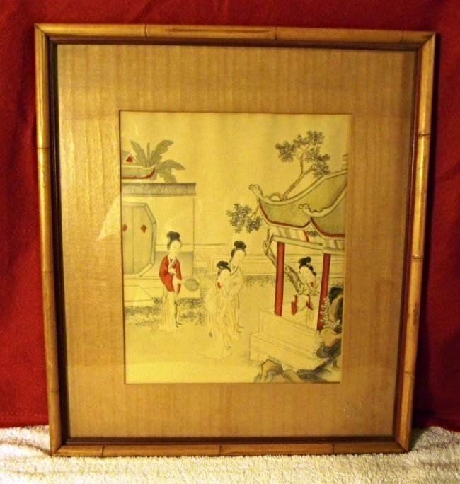 VINTAGE FRAMED ASIAN ART