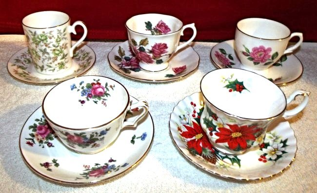 5) Vintage Royal Albert Tea Cup and Saucer set