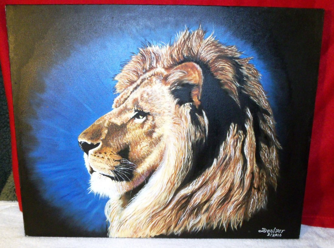 Judah's Lion: This Painting Is Oil's On Canvas