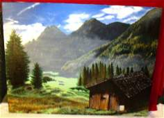 Hanks Hill Cabin: This Painting Is Oils On Canvas