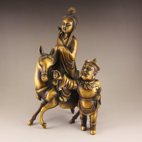 Vintage Chinese Bronze Figures Statue