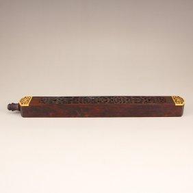 Chinese Huang Hua Li Wood Incense Tube
