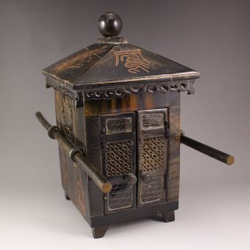 Vintage Chinese Ox Horn Palanquin Model