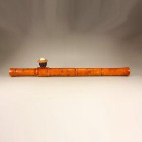 Vintage Chinese Huali Wood Tobacco Pipe