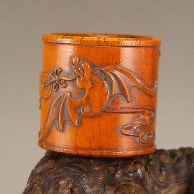 Vintage Chinese Deer Horn Ring