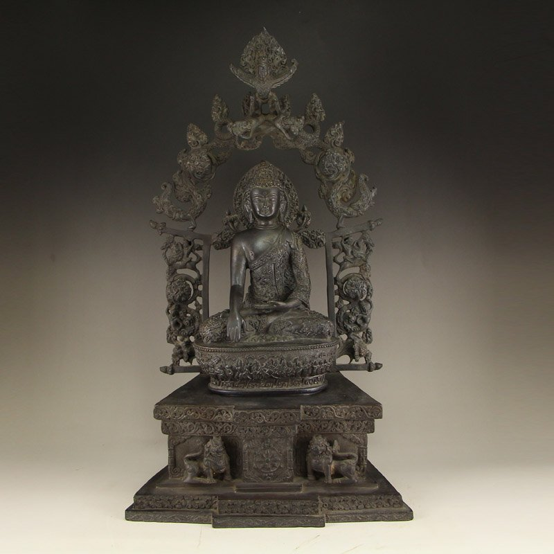 Vintage Chinese Bronze Siddhartha Buddha Statue