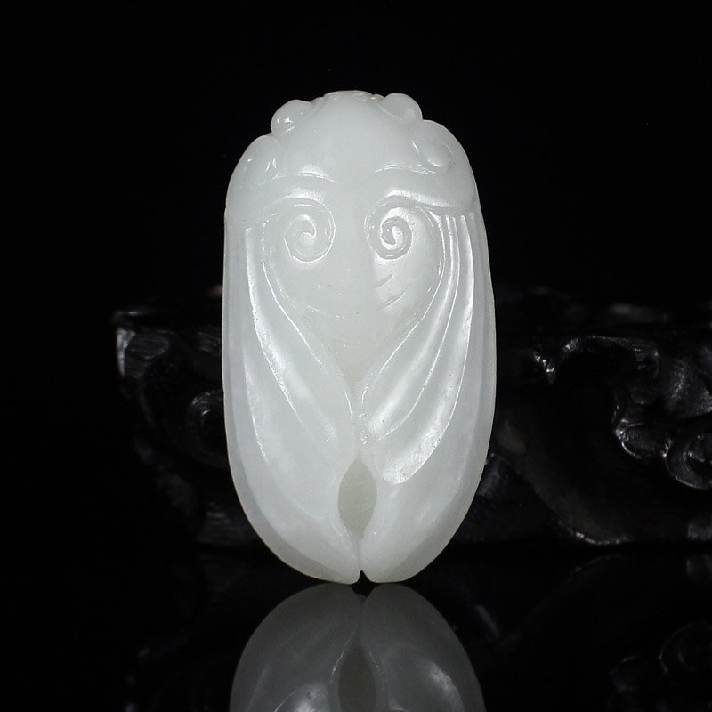 Superb Chinese Hetian Jade Pendant - Cicada