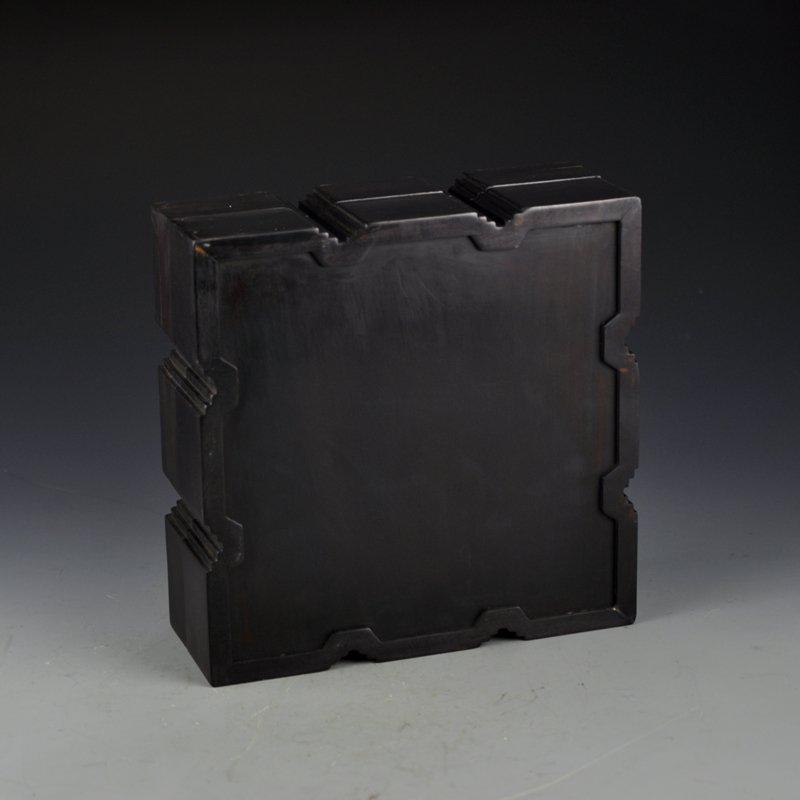 Chinese Qing Dy Zitan Wood Inlay Shells Jewelry Box - 9