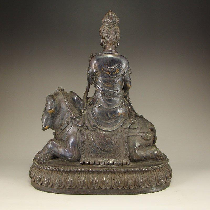 China Ming Dy Bronze Statue - Samantabhadra & Elephant - 9
