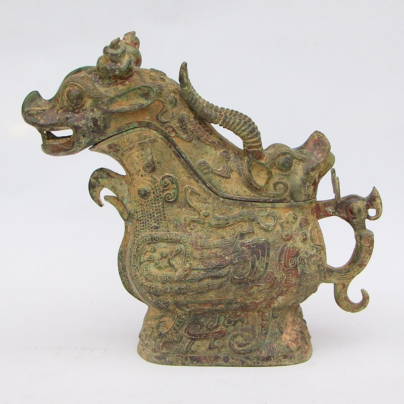 Vintage Chinese Bronze Ox Head Cup
