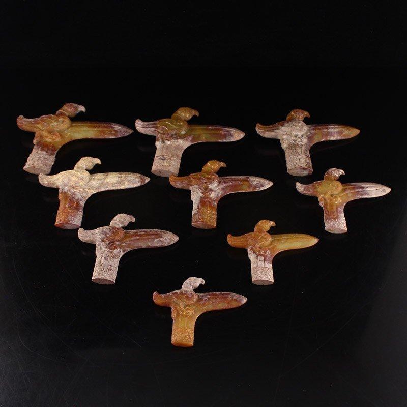 Chinese Han Dynasty Hetian Jade Nine Knives