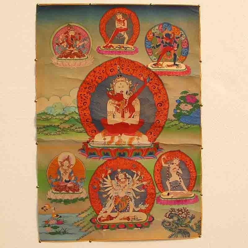 Tibetan Buddhism Kraft Thangka - Mandkesvara Budda