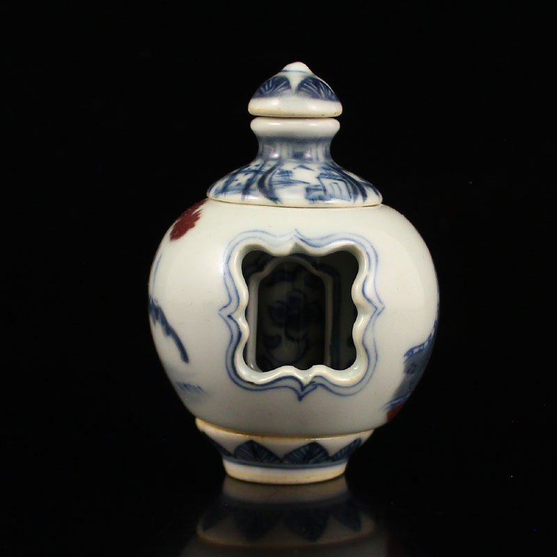 China Qing Dy Dou Cai 3 Layers Turn Heart Snuff Bottle