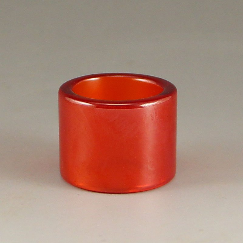 Vintage Chinese Red Zircon Thumb Ring