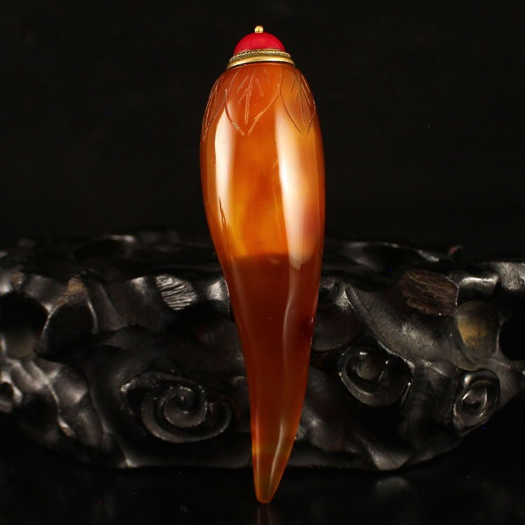 Vintage Chinese Agate Snuff Bottle