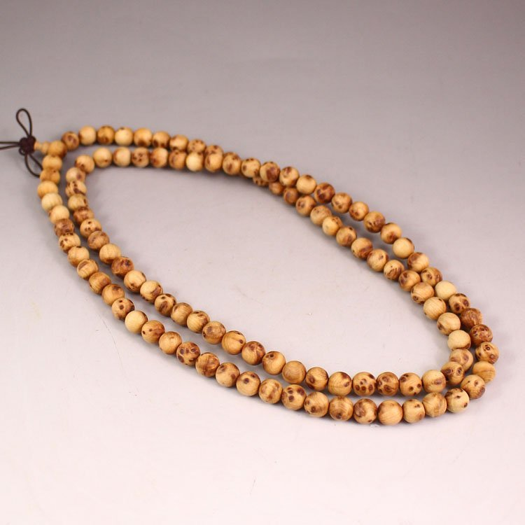 Chinese Thuja Sutchuenensis Wood Beads Necklace