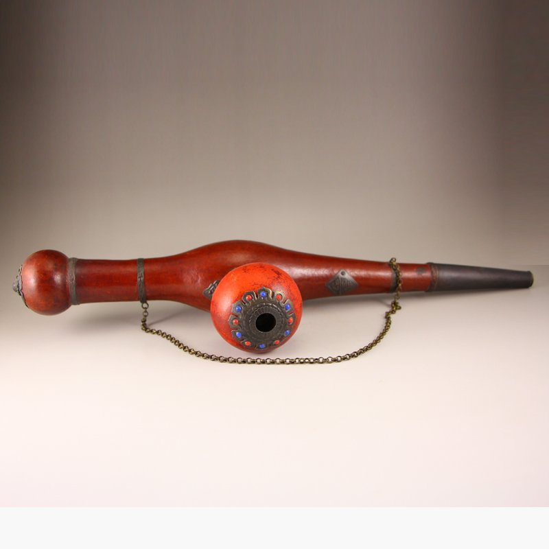 Vintage Chinese Gourd Tobacco Pipe