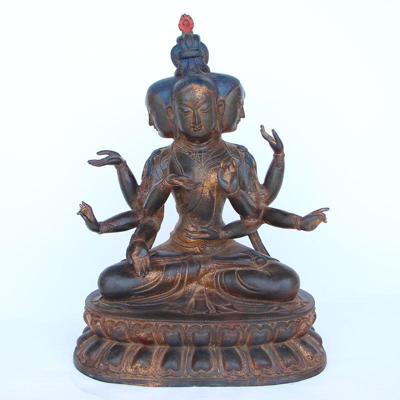 Tibetan Buddhist Marici Bulmo Bodhisattva Statue