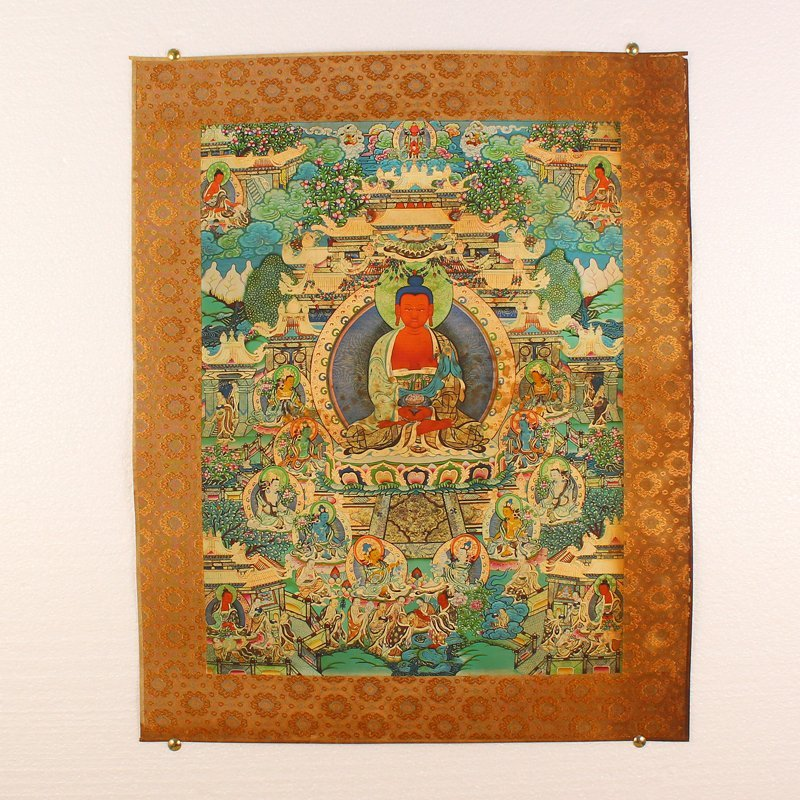 Tibetan Buddhism Kraft Thangka - Siddhartha Buddha