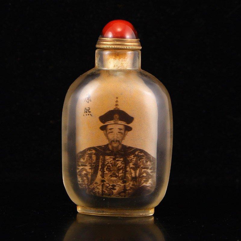 Chinese Peking Glass Inside Painting Snuff Bottle