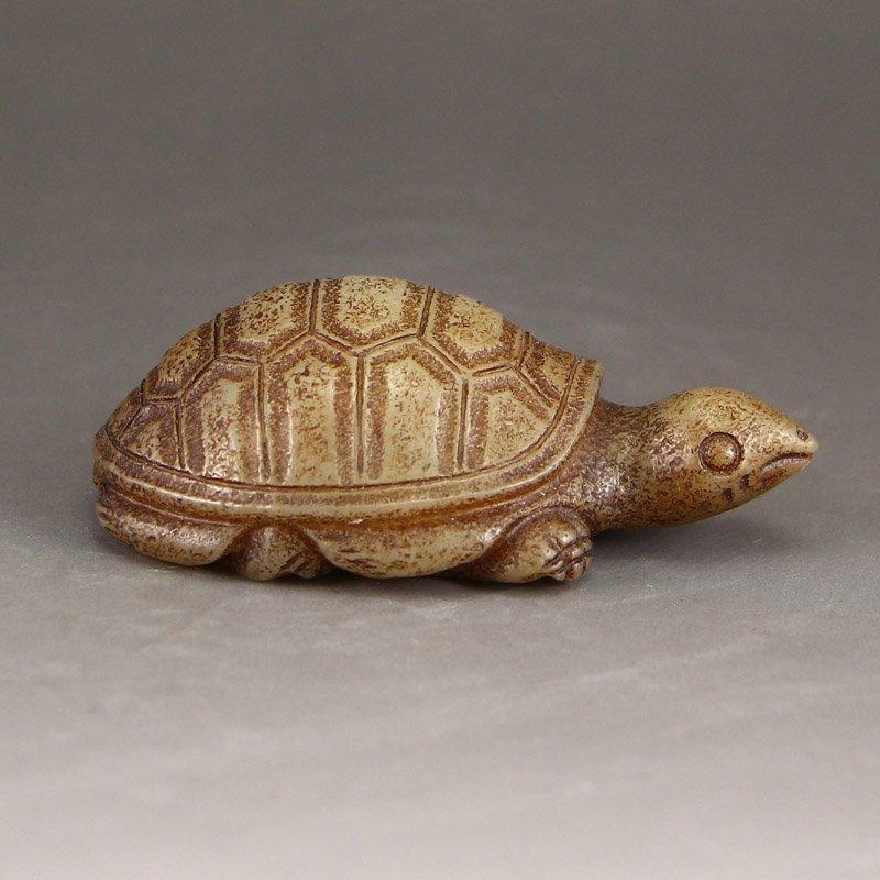 Vintage Chinese Hetian Jade Statue - Turtle