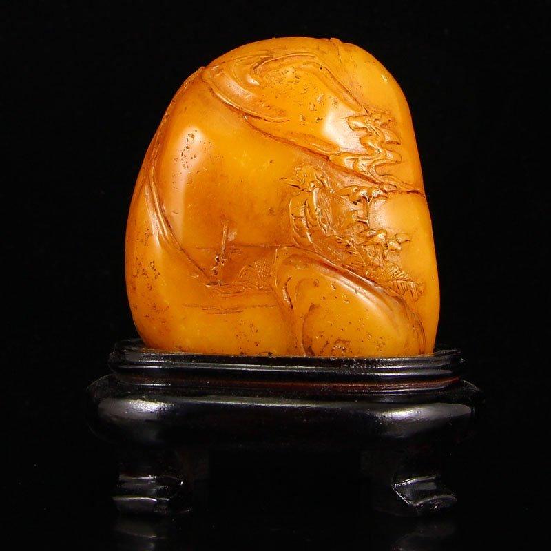 Chinese Shoushan Stone Tian Huang Stone Seal Statue