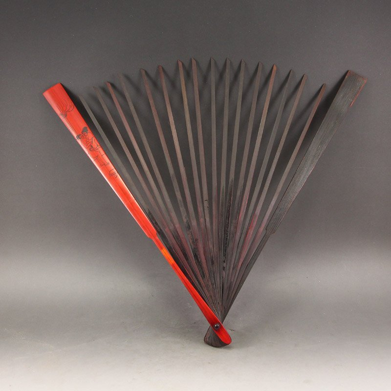 Vintage Chinese Rosewood Wood Fan Frame