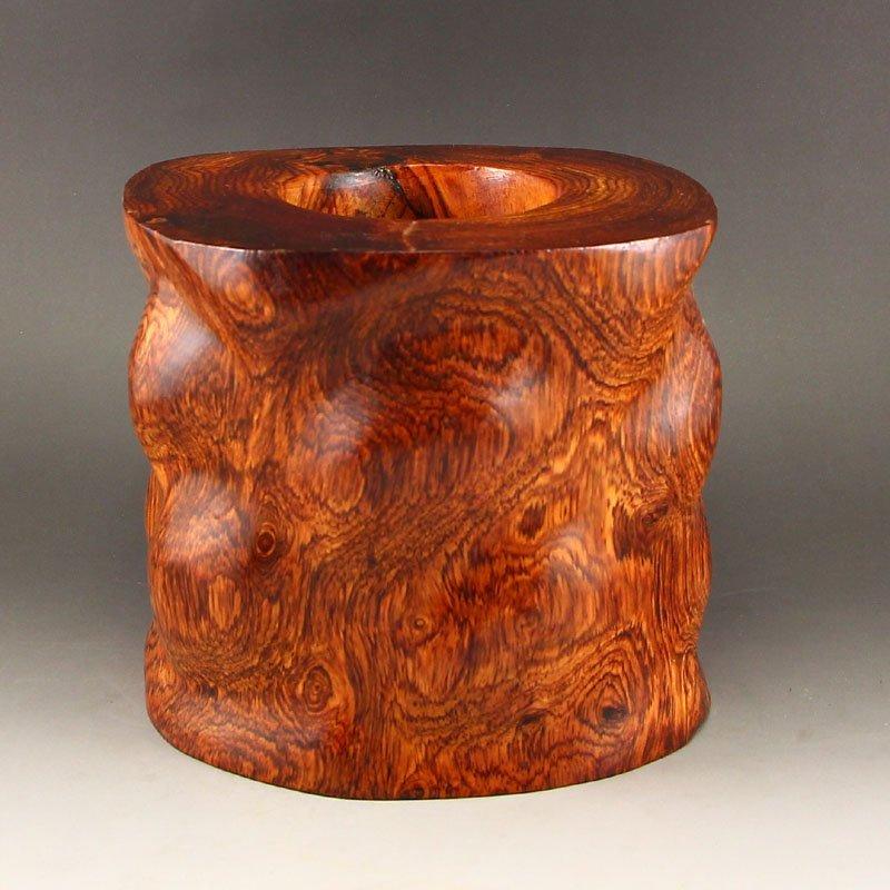 Chinese Hainan Huanghuali Wood Brush Pot