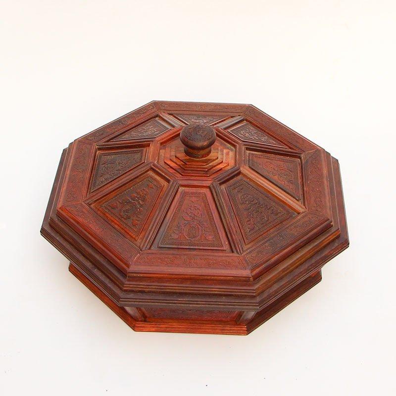Vintage Chinese Zitan Wood Food Box